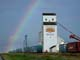 RAINBOW OVER SASK WHEAT POOL ELEVATOR, DELISLE