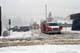 FIRE ENGINE GUARDING DOWNED POWER LINE IN SNOWSTORM, THREE HILLS