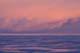 SUNSET OVER FROZEN LAKE ICE, LAKE WINNIPEG, GIMLI