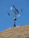 WEATHER VANE AND LIGHTNING ROD ON ROOF, SASKATOON FORESTRY FARM PARK AND ZOO