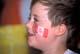 BOY WITH CANADIAN FLAG PAINTED ON FACE, SASKATOON