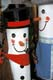 SNOWMEN FENCEPOSTS ON DISPLAY FOR CHRISTMAS, ST. JACOBS