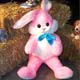STUFFED EASTER BUNNY BY BALES OF HAY, SASKATOON