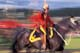 RCMP MUSICAL RIDE, SINGLE RIDER, BLURRED MOVEMENT, WHITEHORSE