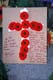REMEMBRANCE CROSS MADE FROM POPPIES, SASKATOON