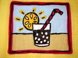 EVE BIR MIS  SK  CWN02D1537D  SUNSHINE AND STRAW IN DRINK ON NAPKINSASKATOON                           0721© CLARENCE W NORRIS           ALL RIGHTS RESERVEDART;BIRTHDAYS;EVENTS;NAPKINS;PAPER;PARTY;SASKATOON;SASKATCHEWAN;SK_;SUMMERLONE PINE PHOTO                  (306) 683-0889.