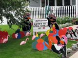 EVE BIR MIS  SK  LJN09A2033DX HAPPY BIRTHDAY LAWN ORNAMENTSSASKATOON                            08© LAURA NORRIS                     ALL RIGHTS RESERVEDBIRTHDAYS;EVENTS;FLAMINGOS;HUMOUR;LAWN_ORNAMENTS;PENGUINS;PLAINS;PRAIRIES;SASKATCHEWAN;SASKATOON;SIGNS;SUMMERLONE PINE PHOTO              (306) 683-0889