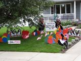EVE BIR MIS  SK  LJN09A2034DX HAPPY BIRTHDAY LAWN ORNAMENTSSASKATOON                            08© LAURA NORRIS                     ALL RIGHTS RESERVEDBIRTHDAYS;EVENTS;FLAMINGOS;HUMOUR;LAWN_ORNAMENTS;PENGUINS;PLAINS;PRAIRIES;SASKATCHEWAN;SASKATOON;SIGNS;SUMMERLONE PINE PHOTO              (306) 683-0889