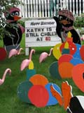 EVE BIR MIS  SK  LJN09A2036DX  VTHAPPY BIRTHDAY LAWN ORNAMENTSSASKATOON                            08© LAURA NORRIS                     ALL RIGHTS RESERVEDBIRTHDAYS;EVENTS;FLAMINGOS;HUMOUR;LAWN_ORNAMENTS;PENGUINS;PLAINS;PRAIRIES;SASKATCHEWAN;SASKATOON;SIGNS;SUMMER;VTLLONE PINE PHOTO              (306) 683-0889