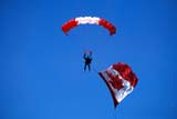 EVE CAN DAY  AB  BRH1601832D  NMRSKYDIVER AND CANADIAN FLAGLETHBRIDGE                         0720© BLAKE R. HYDE                  ALL RIGHTS RESERVEDAB_;AERIAL;ALBERTA;CANADIAN;EVENTS;HOLIDAYS;LETHBRIDGE;OUTDOORS;PEOPLE;PLAINS;PRAIRIES;SKY;SKYDIVING;SUMMER LONE PINE PHOTO              (306) 683-0889