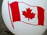 EVE CAN DAY  SK  CWN02D0067DCANADA FLAG ON BALLOONCANADA DAYSASKATOON                           07..© CLARENCE W NORRIS           ALL RIGHTS RESERVEDBALLOONS;CANADA_DAY;CANADIAN;CELEBRATIONS;EVENTS;FLAGS;HOLIDAYS;PLAINS;PRAIRIES;SASKATCHEWAN;SASKATOON;SK_LONE PINE PHOTO                  (306) 683-0889.