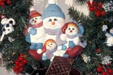 EVE CHR MIS  SK     1814002D SNOWMAN AND FAMILY CERAMICFESTIVAL OF TREESSASKATOON                       12/..© CLARENCE W. NORRIS      ALL RIGHTS RESERVEDART;CERAMIC;CHRISTMAS;CRAFTS;DISPLAYS;EVENTS;PLAINS;PRAIRIES;SASKATCHEWAN;SASKATOON;SK_;SNOWMANLONE PINE PHOTO              (306) 683-0889