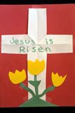 EVE EAS MIS  SK  CWN2201901D  VT    JESUS IS RISEN CRAFTSASKATOON                       03/30© CLARENCE W. NORRIS      ALL RIGHTS RESERVEDCRAFTS;CROSSES;EASTER;EVENTS;PAPER;PLAINS;PRAIRIES;RELIGION;SASKATCHEWAN;SASKATOON;SK_;SPRING;VTLLONE PINE PHOTO              (306) 683-0889