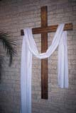 EVE EAS MIS  SK  CWN2202102D  VT   SHROUD ON WOODEN CROSSST. PETER THE APOSTLE R. C.SASKATOON                       03/31© CLARENCE W. NORRIS      ALL RIGHTS RESERVEDCROSSES;DECORATIONS;EASTER;EVENTS;PLAINS;PRAIRIES;RELIGION;SASKATCHEWAN;SASKATOON;SHROUDS;SK_;SPRING;VTL;LONE PINE PHOTO              (306) 683-0889