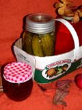 EVE THA MIS  SK  CWN02D4112D  VT   CANNED PRESERVES DISPLAY, THANKSGIVINGSASKATOON                       1013© CLARENCE W. NORRIS      ALL RIGHTS RESERVEDBASKETS;BULLETINS;CRAFTS;EVENTS;FOOD;PICKLES;PLAINS;PRAIRIES;PRESERVES;SASKATCHEWAN;SASKATOON;SK_;THANKSGIVING;VTLLONE PINE PHOTO              (306) 683-0889