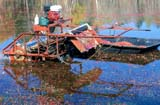 FAR CRO CRA  ON  LDL1000177DCRANBERRY HARVESTER ON THE WATERJOHNSON'S CRANBERRY BOGBALA                                  10..© L. DIANE LACKIE                ALL RIGHTS RESERVEDAUTUMN;BALA;BERRIES;CENTRAL;CRANBERRIES;CROPS;EQUIPMENT;FARMING;HARVEST;MARSHES;ON_;ONTARIOLONE PINE PHOTO                  (306) 683-0889