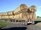 ROUND BALES ON TRANSPORT TRUCK, STROME