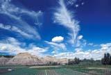 FAR TRU FAR  AB  KJM17101DTRUCK FARM IN BADLANDSMORRIN                   07..© KEVIN MORRIS      ALL RIGHTS RESERVEDAB_;ALBERTA;AUTOS;BADLANDS;CROPS;FARMING;FIELDS;HILLS;MORRIN;PLAINS;PRAIRIES;RURAL;SCENES;SKY;SUMMERLONE PINE PHOTO   (306) 683-0889