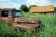 OLD FORD TRUCK AND OLD FARM BUILDING IN SUMMER, SHELLBROOK