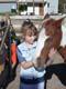 GIRL & HORSE IN CORRAL, MEACHAM