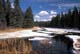 SNOWY SHORELINE, WASKESIU RIVER, PRINCE ALBERT NATIONAL PARK
