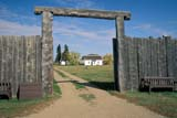 HIS NAT BAT  SK     2010501DMAIN GATE TO FORTFORT BATTLEFORD NAT HIS 09/16© CLARENCE W. NORRIS       ALL RIGHTS RESERVEDFORT_BATTLEFORD;FORT_BATTLEFORD_NHS;FORTS;HISTORIC;NWMP;PIONEERS;PLAINS;PRAIRIES;SASKATCHEWAN;SK_;STOCKADES;SUMMER;STRUCTURES;TOURISM;WOODLONE PINE PHOTO               (306) 683-0889