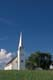 CHURCH AGAINST SUMMER SKY, BATOCHE NATIONAL HISTORIC SITE