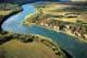 AERIAL VIEW OF BATOCHE NATIONAL HISTORIC SITE AND SOUTH SASKATCHEWAN RIVER, BATOCHE