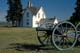 MAIN HOUSE AND FIELD GUN, FORT BATTLEFORD NATIONAL HISTORIC SITE