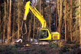IND FOR MIS  SK     2200111D         KOMATSU PC150LC TREE HARVESTER BJORKDALE                         02/15   © CLARENCE W. NORRIS      ALL RIGHTS RESERVEDBJORKDALE;EQUIPMENT;FORESTRY;HARVEST;INDUSTRY;KOMATSU;LOGGING;PARKLAND;PLAINS;PRAIRIES;SASKATCHEWAN;SK_;TREE_HARVESTERS;TREES;WOODLONE PINE PHOTO                  (306) 683-0889