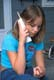 GIRL TALKING ON CORDLESS PHONE, SASKATOON