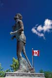 ART SCU MIS  ON  BMM1001148D  VTTERRY FOX MONUMENT AND CANADIAN FLAGTHUNDER BAY                               07© BEV MCMULLEN                          ALL RIGHTS RESERVEDART;ATTRACTIONS;CANADIAN;CENTRAL;DISABILITIES;FLAGS;MONUMENT;ON_;ONTARIO;TERRY_FOX;THUNDER_BAY;SCULPTURES;STATUES;SUMMER;TOURISM;VTLLONE PINE PHOTO              (306) 683-0889