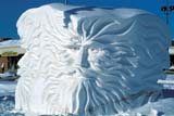 "ART SCU MIS  MB  PNB1000571D   ""NORTH WIND"" SNOW SCULPTURE  FESTIVAL DU VOYAGEURWINNIPEG                           ....© PAUL BROWNE               ALL RIGHTS RESERVEDART;FESTIVAL_DU_VOYAGEUR;MANITOBA;MB_;PLAINS;PRAIRIES;SCULPTURES;SNOW;TEXTURE;WINNIPEG;WINTERLONE PINE PHOTO              (306) 683-0889"
