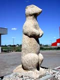 ART SCU MIS  SK  CWN02D0343D  VTSCULPTURE OF A GOPHER, RICHARDSON GROUND SQUIRRELESTON                                     07/02© CLARENCE W. NORRIS           ALL RIGHTS RESERVEDANIMALS;ART;ATTRACTIONS;ESTON;GOPHERS;RICHARDSON_GROUND_SQUIRREL;SASKATCHEWAN;SK_;SCULPTURES;STATUES;SUMMER;TOURISM;VTLLONE PINE PHOTO                  (306) 683-0889
