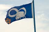 FLA MIS MIS  SK  WDS05B1190DX  METIS FLAG SASKATOON                     ....© WAYNE SHIELS               ALL RIGHTS RESERVEDFLAGS;METIS;PLAINS;PRAIRIES;SASKATCHEWAN;SASKATOON;SK_;SUMMERLONE PINE PHOTO              (306) 683-0889