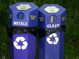REC MIS MIS  SK  CWN02D0563D RECYCLING BINS CYPRESS HILLS INTERPROVINCIAL PARK          07/03© CLARENCE W. NORRIS           ALL RIGHTS RESERVEDCYPRESS_HILLS_PP;ENVIRONMENT;POLLUTION;PP_;RECYCLING;SASKATCHEWAN;SK_;WASTELONE PINE PHOTO                  (306) 683-0889