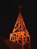 REL MIS MIS  SK  CWN02D3900D  VT   CHURCH TOWER AT NIGHTYORKTON                           09/28© CLARENCE W. NORRIS      ALL RIGHTS RESERVEDBULLETINS;CATHOLIC;CHURCHES;CROSSES;GEOMETRY;PLAINS;PRAIRIES;RELIGION;SASKATCHEWAN;SK_;VTL;YORKTONLONE PINE PHOTO              (306) 683-0889