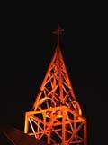 REL MIS MIS  SK  CWN02D3902D  VT   CHURCH TOWER AT NIGHTYORKTON                           09/28© CLARENCE W. NORRIS      ALL RIGHTS RESERVEDBULLETINS;CATHOLIC;CHURCHES;CROSSES;GEOMETRY;PLAINS;PRAIRIES;RELIGION;SASKATCHEWAN;SK_;VTL;YORKTONLONE PINE PHOTO              (306) 683-0889