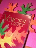 REL UNI MIS  SK  CWN02D4088D  VT      LEAVES ON VOICES UNITED HYMN BOOKSASKATOON                       1013© CLARENCE W. NORRIS      ALL RIGHTS RESERVEDAUTUMN;BOOKS;BULLETINS;CRAFTS;EVENTS;LEAVES;MUSIC;RELIGION;SASKATCHEWAN;SASKATOON;SK_;THANKSGIVING;VOICES_UNITED;UNITED;VTLLONE PINE PHOTO              (306) 683-0889