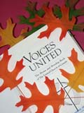 REL UNI MIS  SK  CWN02D4092D  VT      LEAVES ON VOICES UNITED HYMN BOOKSASKATOON                       1013© CLARENCE W. NORRIS      ALL RIGHTS RESERVEDAUTUMN;BOOKS;BULLETINS;CRAFTS;EVENTS;LEAVES;MUSIC;RELIGION;SASKATCHEWAN;SASKATOON;SK_;THANKSGIVING;UNITED;VOICES_UNITED;VTLLONE PINE PHOTO              (306) 683-0889