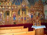 REL UKR MIS  SK   CWN02T0130DVIEW OF SANCTUARYST. GEORGE'S UKRANIAN CATHOLIC CHURCHSASKATOON                            06..© CLARENCE W. NORRIS           ALL RIGHTS RESERVEDART;BULLETINS;CATHOLIC;CHURCHES;CULTURE;PAINTINGS;PLAINS;PRAIRIES;RELIGION;SASKATCHEWAN;SASKATOON;SK_;ST_GEORGES_UKRANIAN_CATHOLIC_CHURCH;UKRAINIAN;VTL LONE PINE PHOTO                  (306) 683-0889