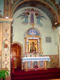 REL UKR MIS  SK   CWN02T0131D  VTVIEW OF SANCTUARYST. GEORGE'S UKRANIAN CATHOLIC CHURCHSASKATOON                            06..© CLARENCE W. NORRIS           ALL RIGHTS RESERVEDART;BULLETINS;CATHOLIC;CHURCHES;CULTURE;PAINTINGS;PLAINS;PRAIRIES;RELIGION;SASKATCHEWAN;SASKATOON;SK_;ST_GEORGES_UKRANIAN_CATHOLIC_CHURCH;UKRAINIAN;VTL LONE PINE PHOTO                  (306) 683-0889
