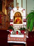 REL UKR MIS  SK   CWN02T0135D  VTVIEW OF SANCTUARYST. GEORGE'S UKRANIAN CATHOLIC CHURCHSASKATOON                            06..© CLARENCE W. NORRIS           ALL RIGHTS RESERVEDCATHOLIC;CHURCHES;CULTURE;PLAINS;PRAIRIES;RELIGION;SASKATCHEWAN;SASKATOON;SK_;ST_GEORGES_UKRANIAN_CATHOLIC_CHURCH;UKRAINIAN;VTLLONE PINE PHOTO                  (306) 683-0889