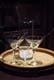 COCKTAIL GLASSES & PITCHER IN WINDOW DISPLAY, SASKATOON