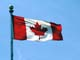 CANADIAN FLAG BLOWING IN THE WIND, REGINA