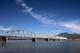 ALASKA HIGHWAY CROSSES THE NISUTIN RIVER, TESLIN