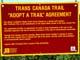 TRANS-CANADA TRAIL AGREEMENT SIGN, CYPRESS HILLS