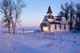 ST. PAUL'S ANGLICAN CHURCH IN WINTER, BAIE ST. PAUL