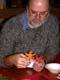 MAN WORKING ON THANKSGIVING CRAFT, SASKATOON
