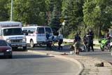 OCC AMB MIS  SK  WDS06B2485DXEMERGENCY WORKERS AT MOTORCYCLE ACCIDENTSASKATOON                       07/..© WAYNE SHIELS                ALL RIGHTS RESERVEDACCIDENTS;AMBULANCES;AUTOS;EMERGENCIES;EMERGENCY_RESPONSE;OCCUPATIONS;PEOPLE;PLAINS;PRAIRIES;SASKATCHEWAN;SASKATOON;SK_;SUMMERLONE PINE PHOTO              (306) 683-0889